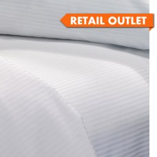 "Flat Sheets Sateen 1/4"" Stripe Queen Size Retail Outlet"