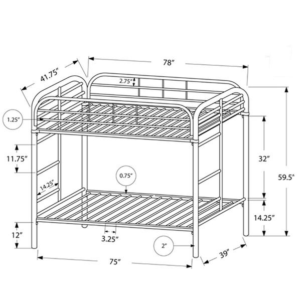 metal bunk beds twin over twin black. Black Bedroom Furniture Sets. Home Design Ideas