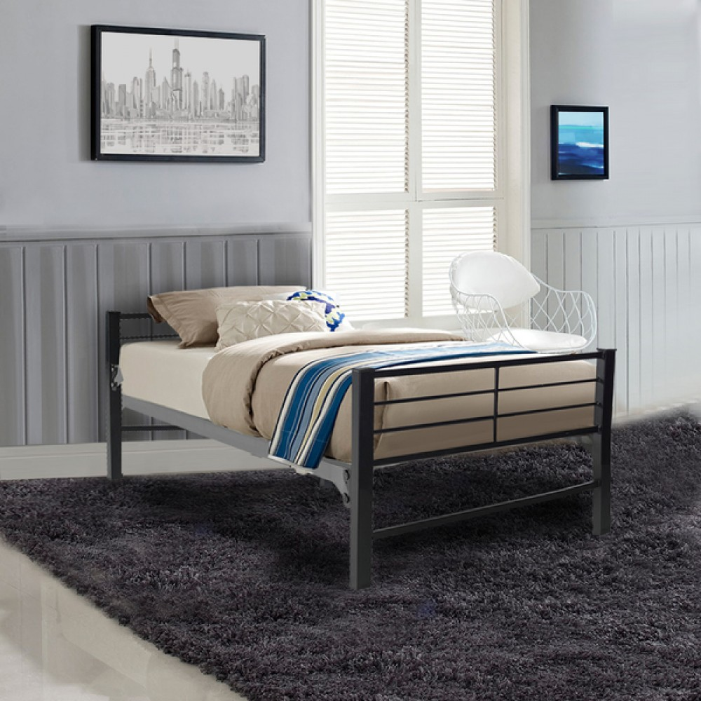 Military Grade Metal Platform Bed Commercial Steel Construction