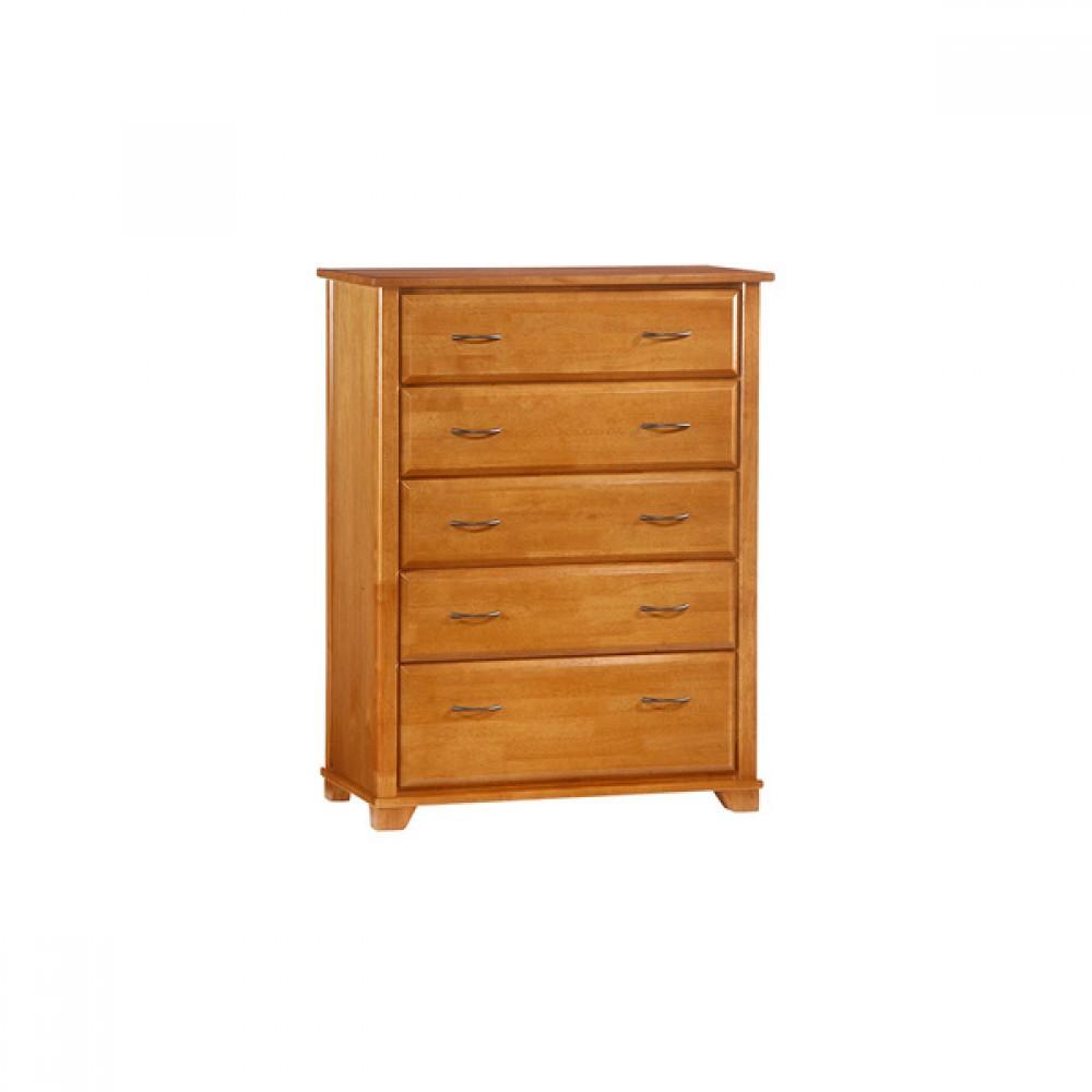 2 3 Weeks 5 Drawer Dresser Jupiter Furniture Collection Solid Wood Oak Finish