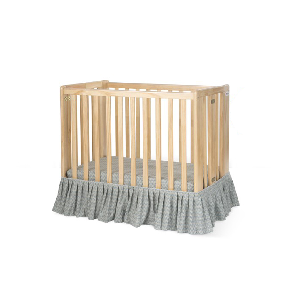 Crib Dust Ruffle Compact Sage | Shelter Supplies