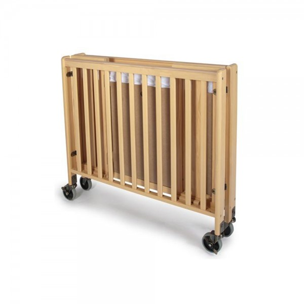 heavy duty solid wood folding crib compact size mattress included