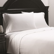 Tone on Tone Stripe White Hotel Sheets Collection