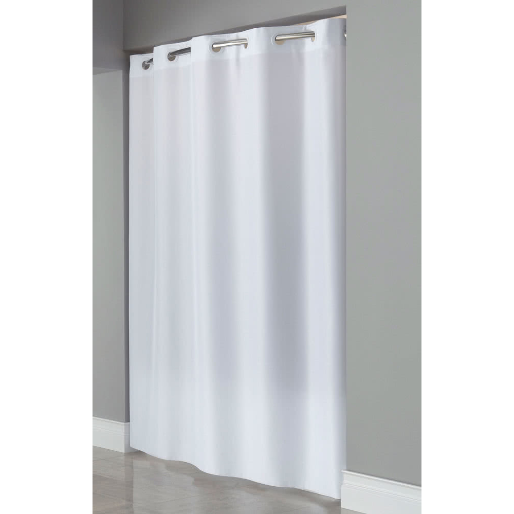 Hookless Shower Curtains Plain Weave White