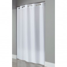 Hookless Shower Curtains Plain Weave White