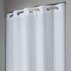 Hookless Shower Curtains White Stripe