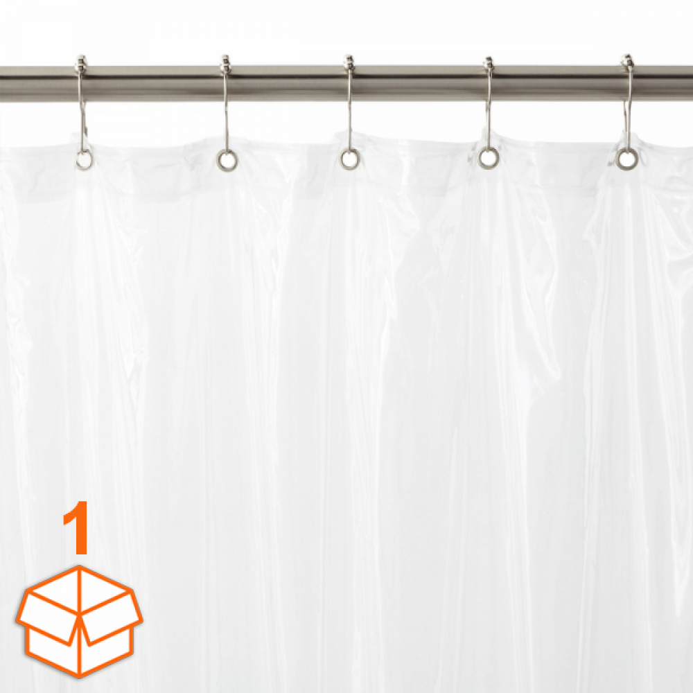 Vinyl Shower Curtains With Rust Proof Metal Grommets Small Case Pack
