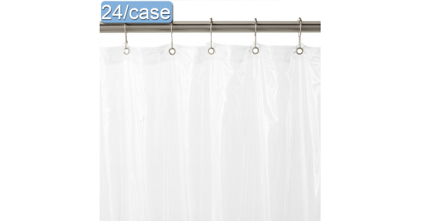 Vinyl Shower Curtain With Rust Proof Metal Grommets