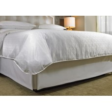 Lined Bedskirt With Band White Satin Finish Double XL